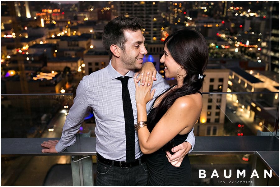 san diego engagement photography, gaslamp engagement session, downtown san diego engagement session, gaslamp, petco park engagement session, petco park, night time engagement session, downtown san diego, san diego engagement session