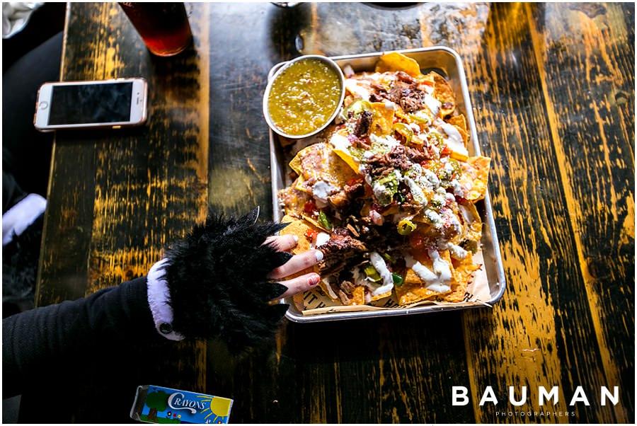 san diego photography, food photography, san diego food photography, bauman lunch, the rabbit hole, san diego dinning, halloween, halloween costumes