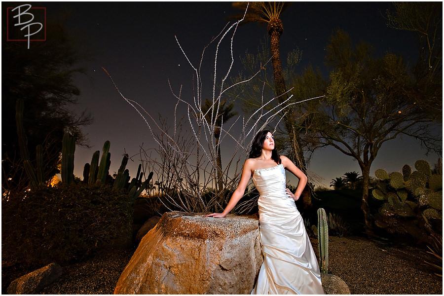 Arizona bride sunset