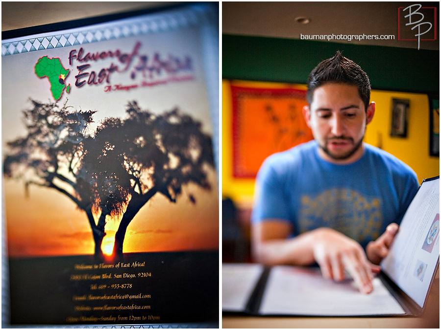 Photographing Flavors of East Africa lunch menu