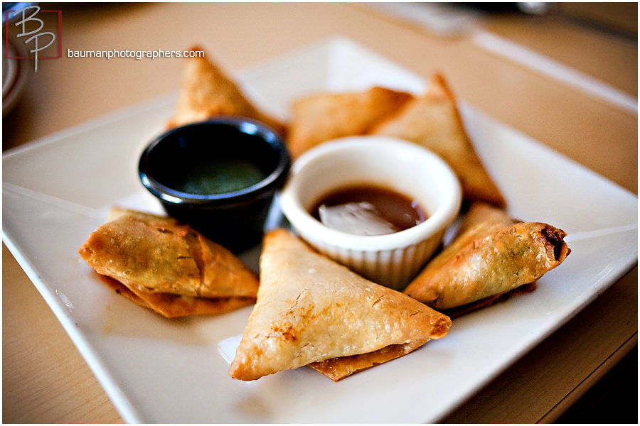 Appetizer photographs from Flavors of East Africa