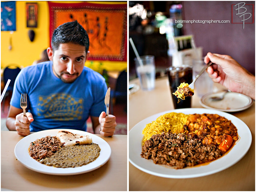 Lunch food photographs at Flavors of East Africa