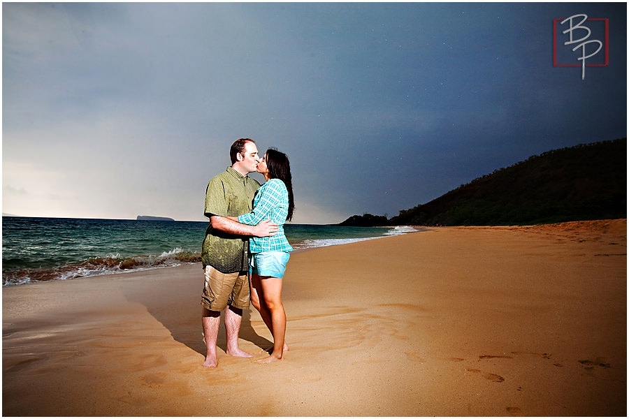 big beach maui engagement photography