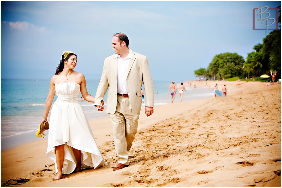 wedding beach walk lahaina