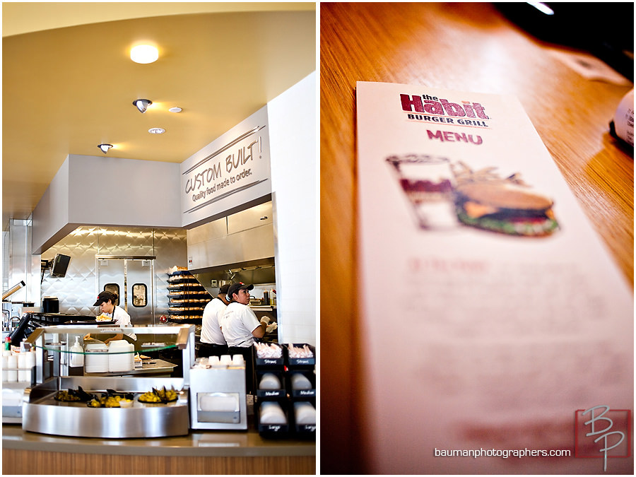 Photographs of The Habit during lunch