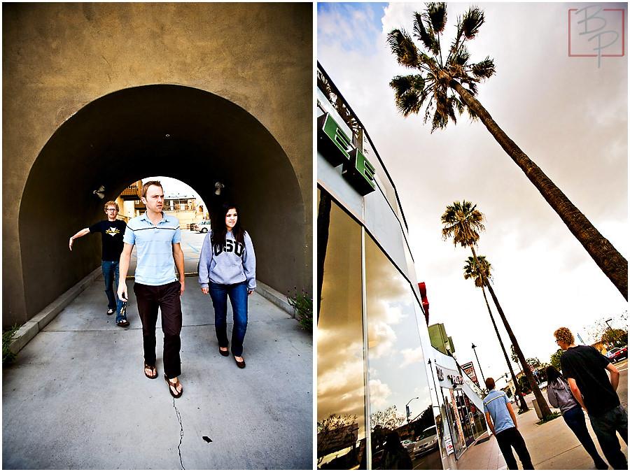 Bauman photographers walk to lunch