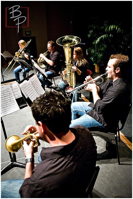 jazz quintet playing