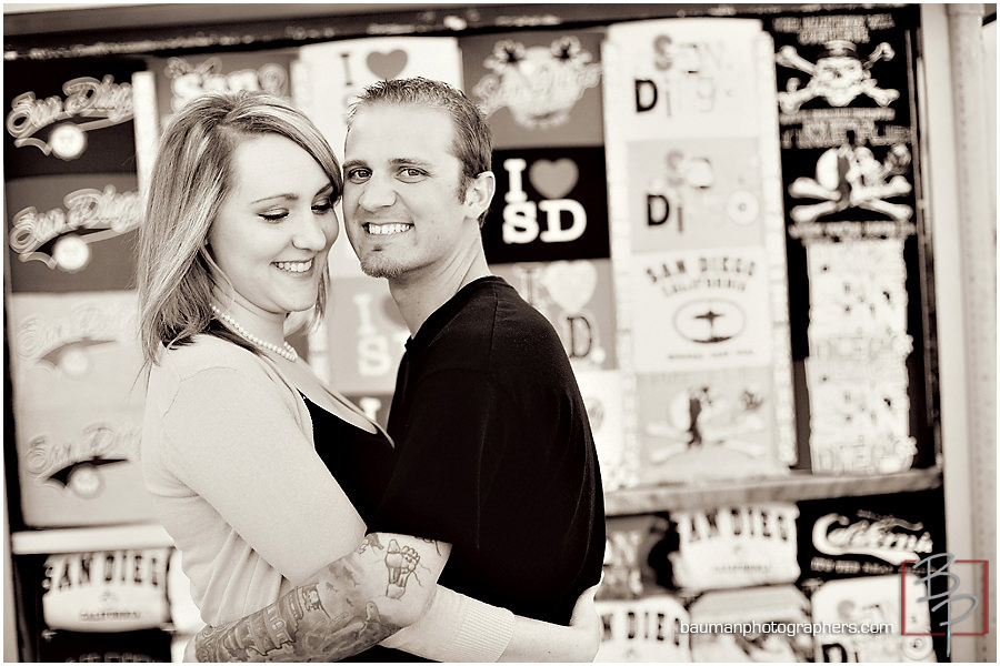Mission Beach engagement photography