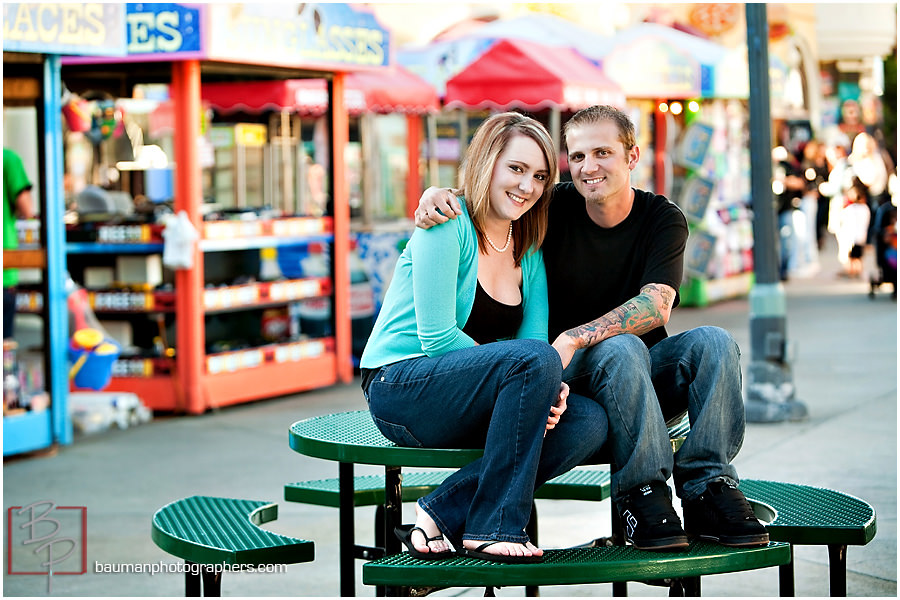 Engagement photos in Mission Beach San Diego