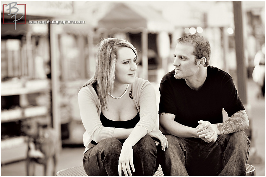 Engagement photos in Mission Beach by Bauman Photographers