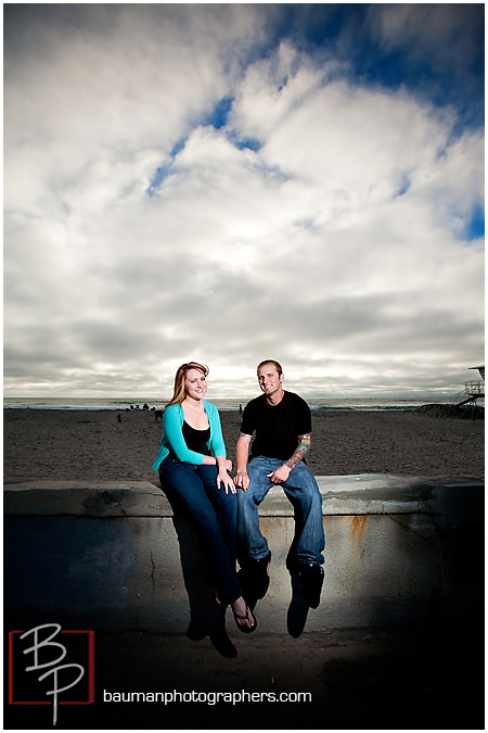 Engagement photos in San Diego at Mission Beach