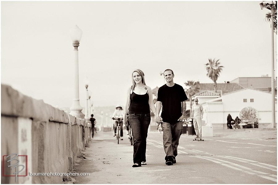 Bauman Photography engagement shoot at Mission Beach San Diego
