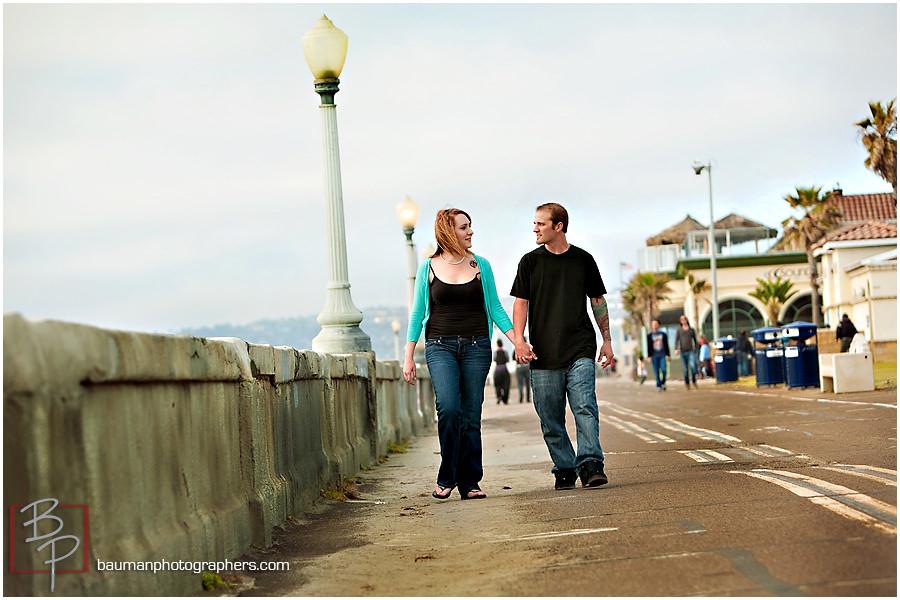 Bauman Photography couple portraits at Mission Beach