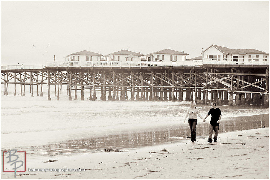 Engagement Portraits in Mission Beach San Diego