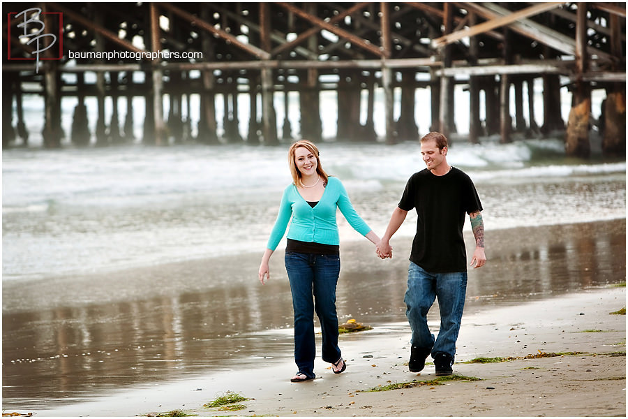 Bauman Photography Engagement Portraits in Mission Beach