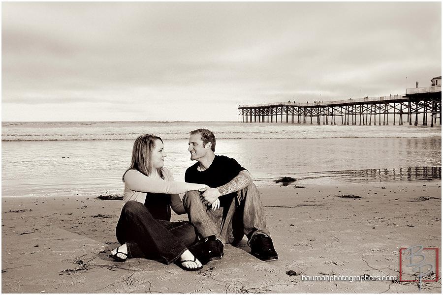 Mission Beach San Diego engagement photos