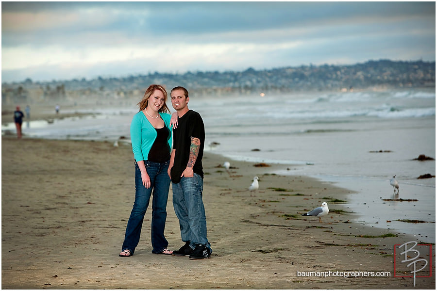 Mission Beach San Diego engagement photography