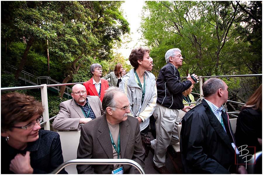 Employees on San Diego Zoo Tour Bus