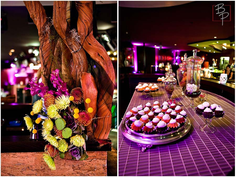 San Diego Floral Event Arrangements and Eden Catering Dessert Table