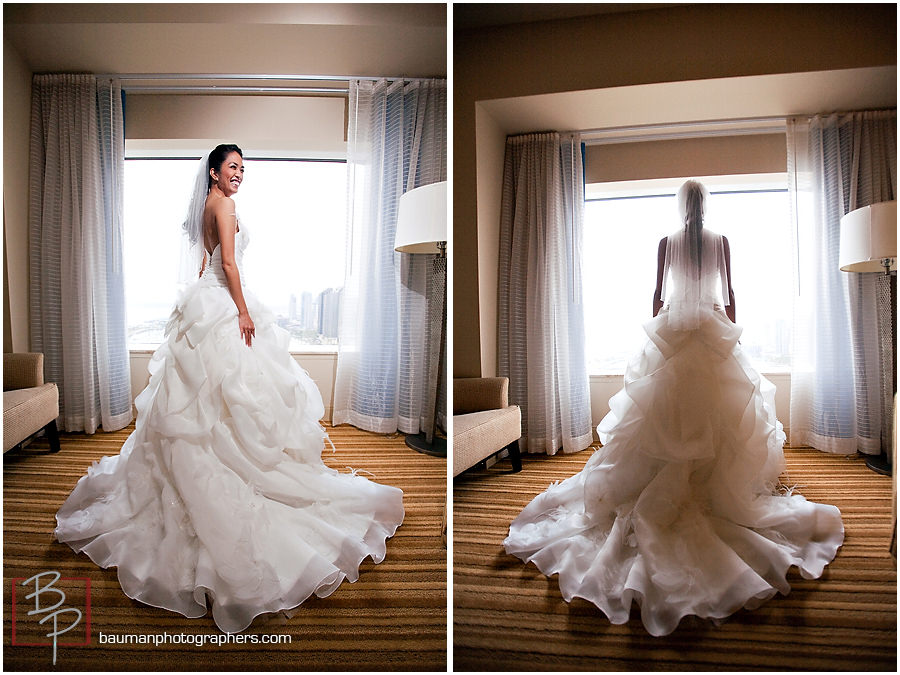 Wedding photography at the Hilton Bay Front Hotel, San Diego