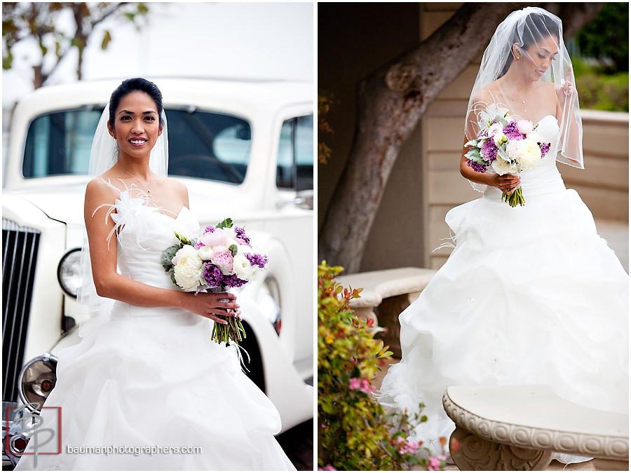 Bauman Photographers Bridal images San Diego Hilton Bay Front
