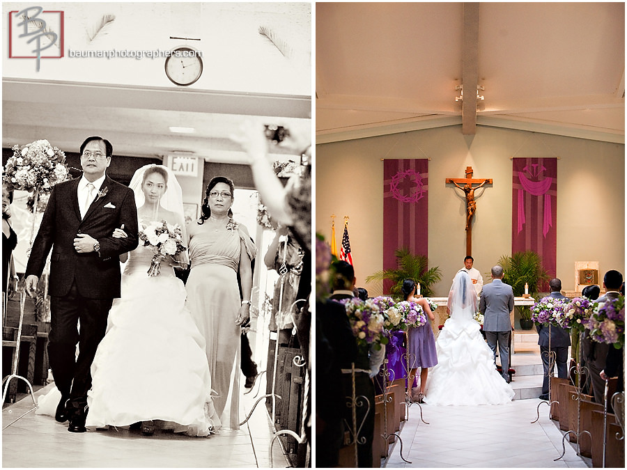 San Diego Wedding photography, Holy Family Church in Linda Vista