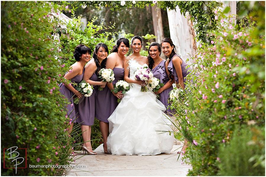San Diego bridal party photos, Twin Oaks Garden Estate