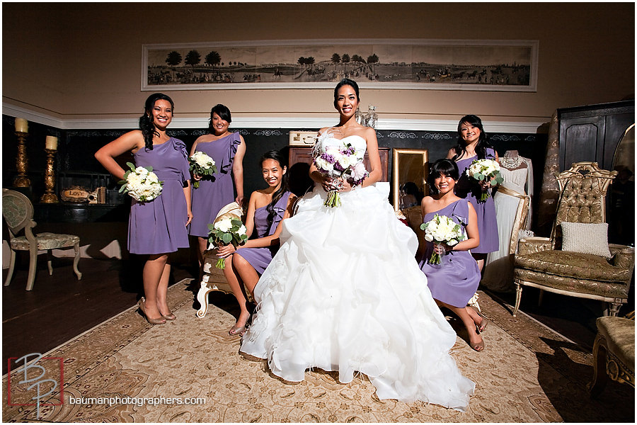 Twin Oaks Garden Estate, bridal party portraits