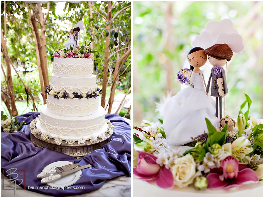 San Diego Wedding photography, wedding cake pictures