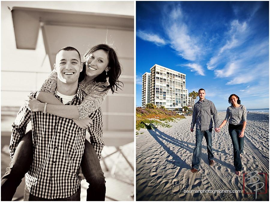 Engagement shoot at Coronado Beach