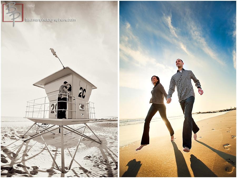Bauman Photographers engagement photos Coronado Beach