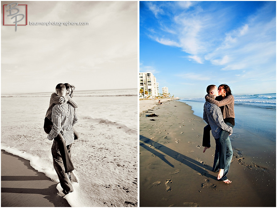 Beach engagement photography at Coronado