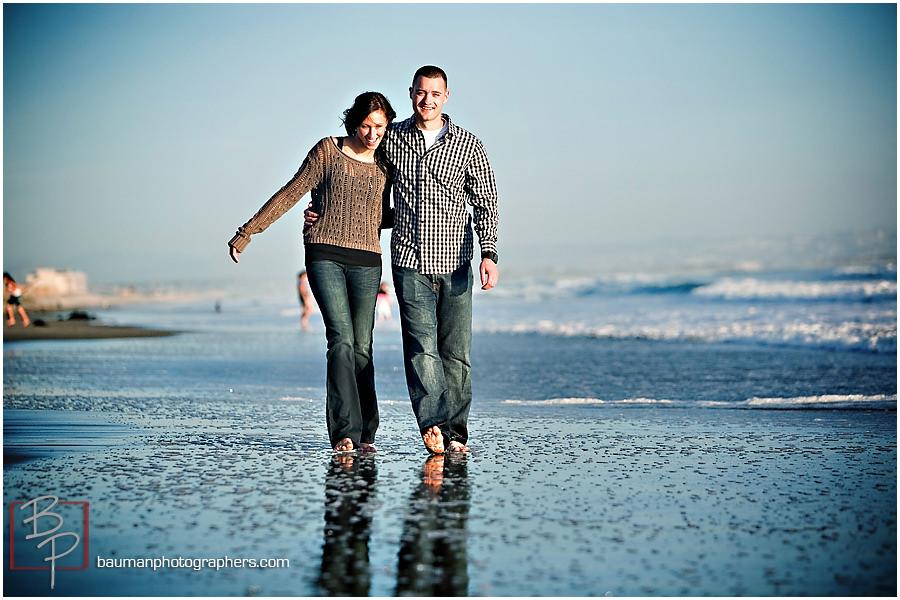 Engagement portraits at Coronado Beach