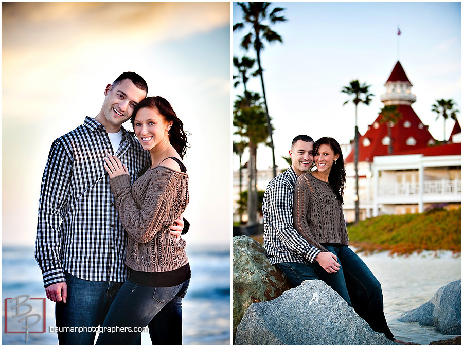 Engagement Photos at Hotel Del, San Diego