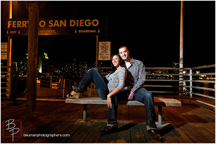 San Diego engagement pictures by Bauman Photographers