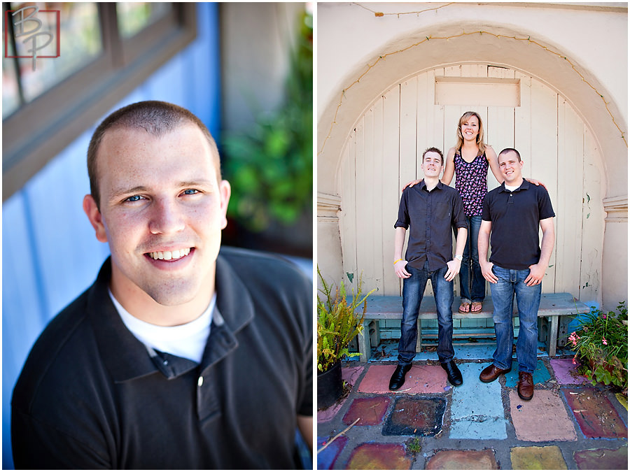 Family portrait session in San Diego