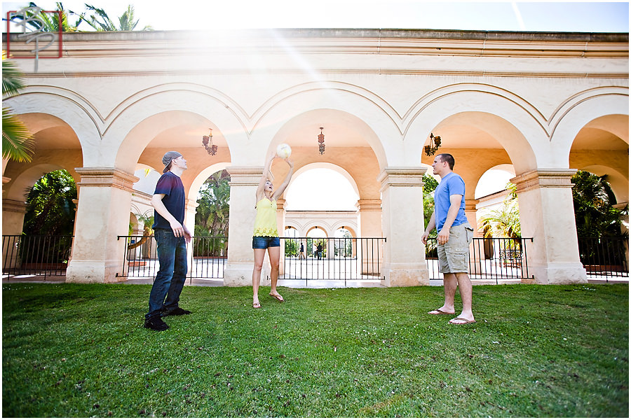 Family Volleyball in Balboa Park