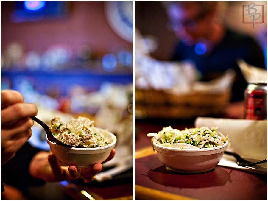 sides potato salad and cole slaw