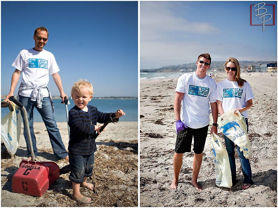 kids clean beach