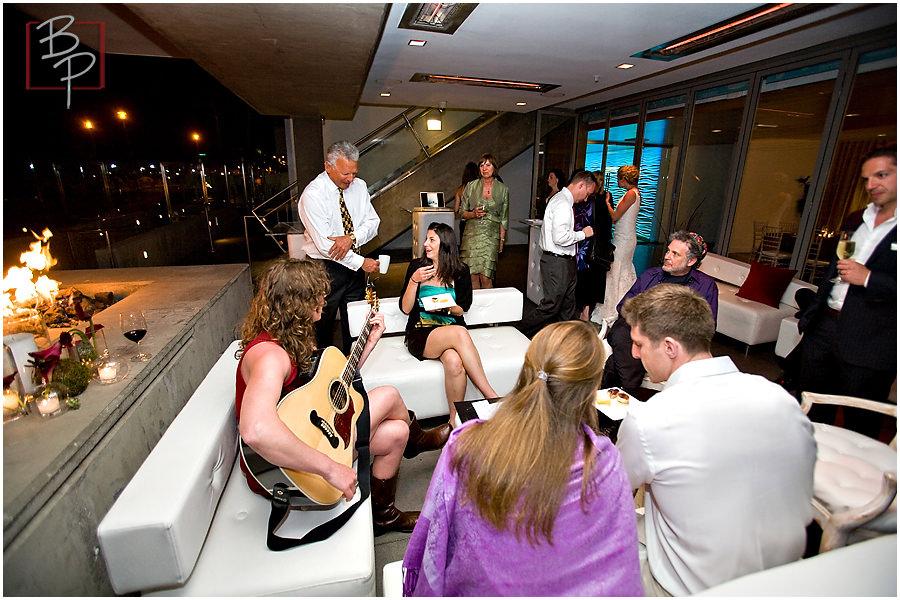 singing at reception