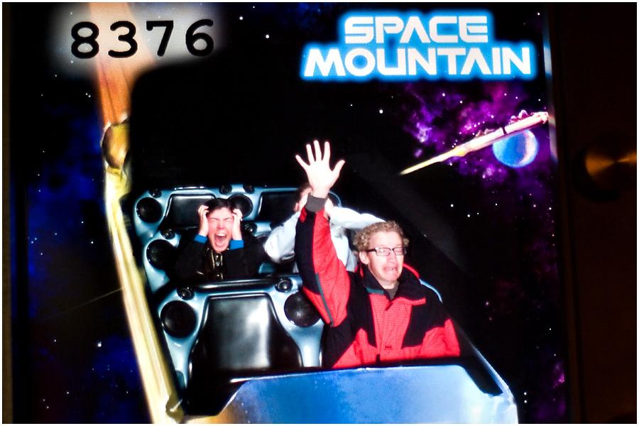 disneyland space mountain ride photo