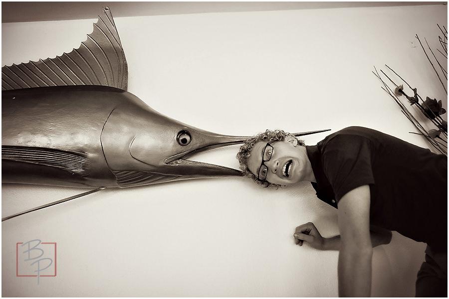 Fish eats Bronson
