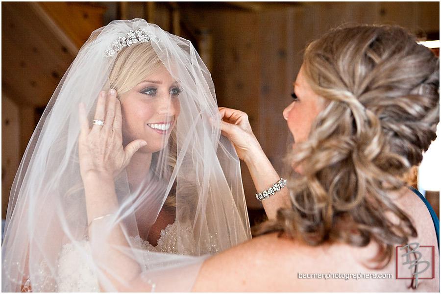 beautiful bride creative wedding portrait