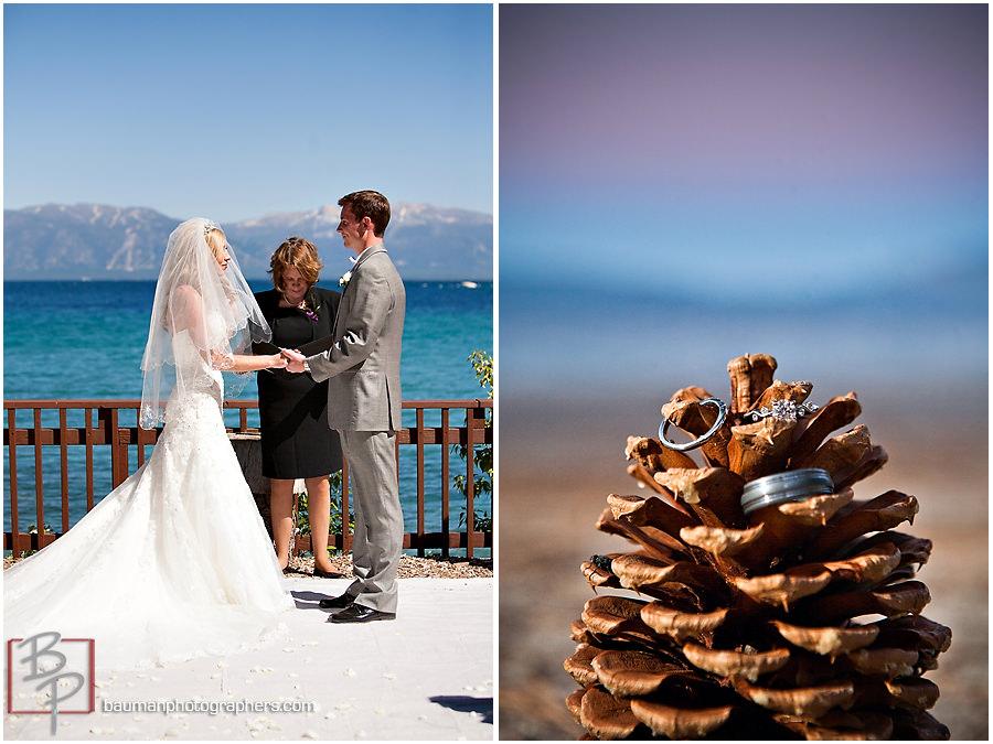 wedding ceremony Meeks Bay