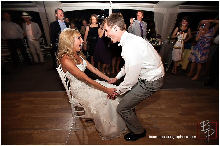 garter excitement photo wedding