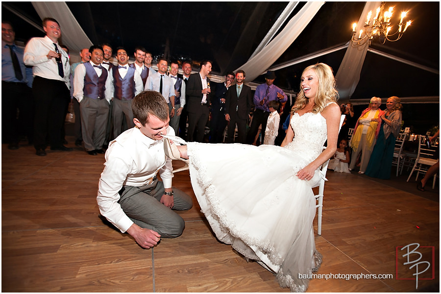garter wedding picture