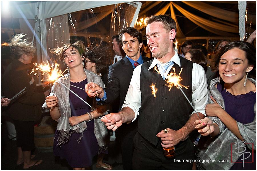 wedding celebration sparklers