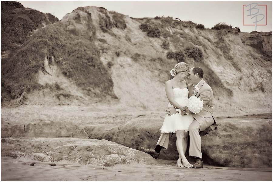 sitting on the beach