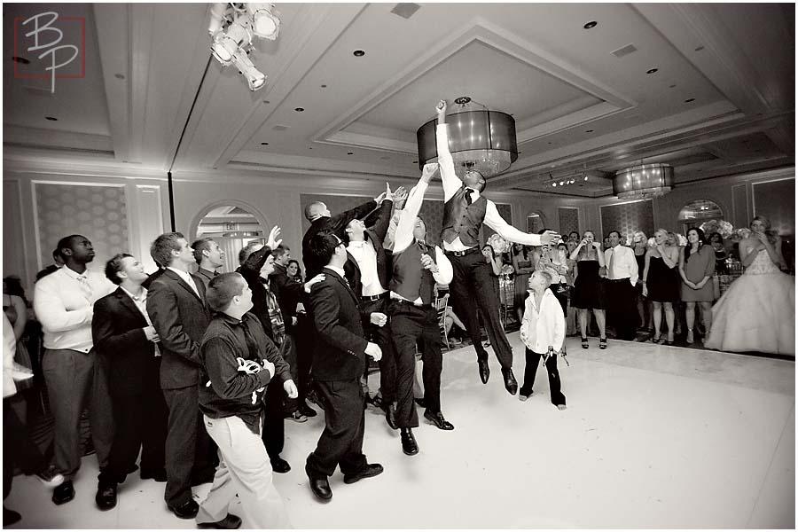 jumping for the garter