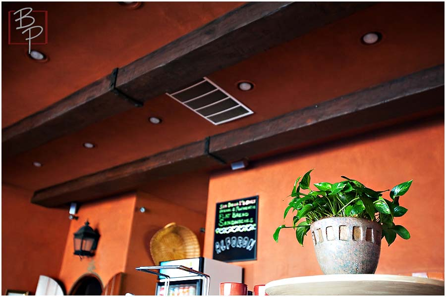 Inside Alfaron Restaurant in San Diego State University Area